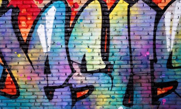 Fondo dell'estratto della pittura a olio di arte della parete dei graffiti Foto Premium