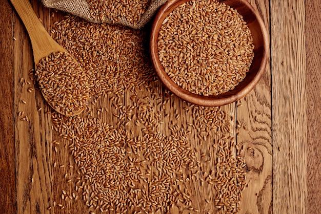 Sacchetto di grano primo piano ingrediente alimentare organico