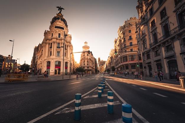 Gran via, la strada principale di madrid