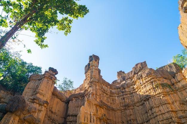 Il grand canyon chiang mai o pha chor nel parco nazionale mae wang, chiang mai, thailandia