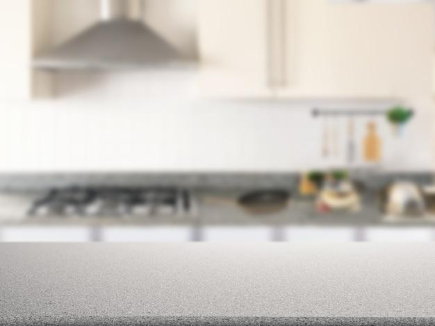 Ripiano in granito con fondo mobile da cucina