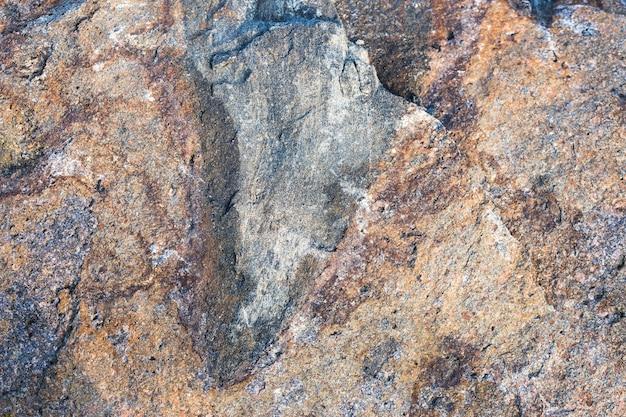 Muro di pietra di granito, primo piano della pietra