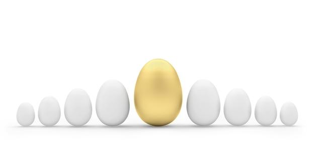 Un grafico di uova con un uovo d'oro