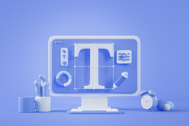 Progettazione grafica rendering desktop 3d