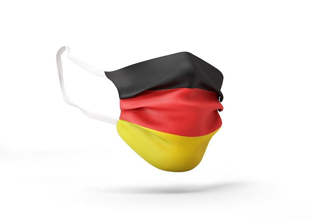 Grafica della maschera chirurgica con bandiera tedesca maschera medica contro il coronavirus