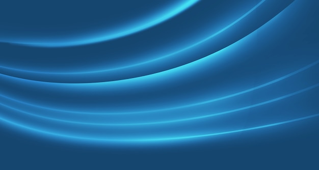 Sfondo grafico astratto curve incandescente