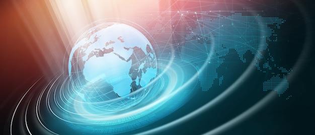 Fondo di comunicazione di notizie del mondo digitale moderno grafico