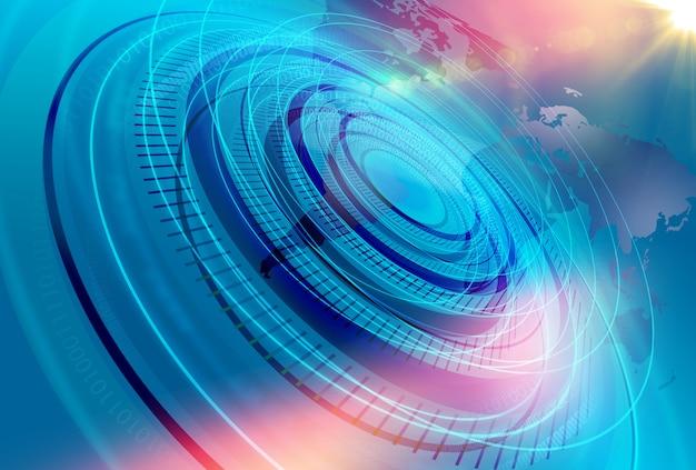 Fondo moderno grafico dello studio di notizie di mondo di digital