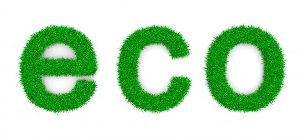Forma del segno del testo di eco dell'erba
