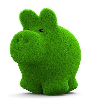 Grass piggy bank