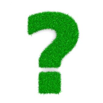 Forma del segno del punto interrogativo dell'erba