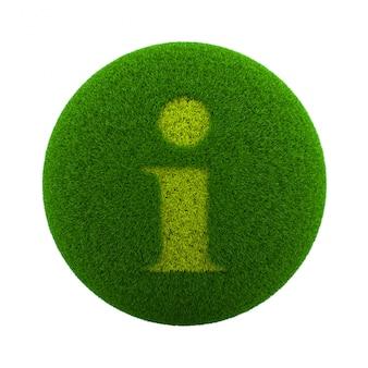 Icona informazioni sfera di erba