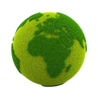 Grass world planet, europa e africa