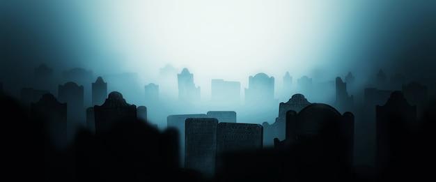 Sfondo silhouette cimitero