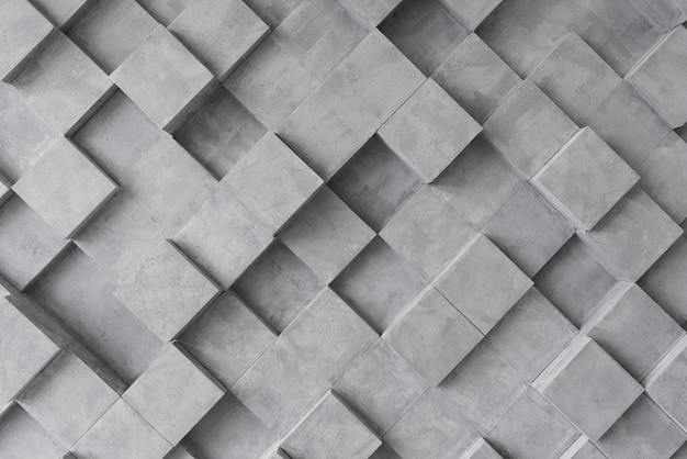 Sfondo grigio 3d con quadrati