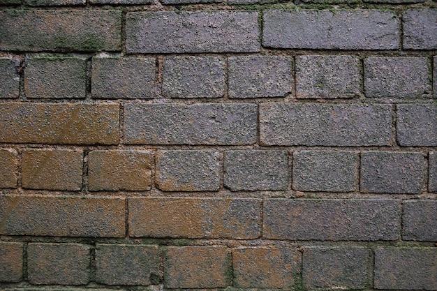 Priorità bassa grigia e marrone del muro di mattoni del grunge