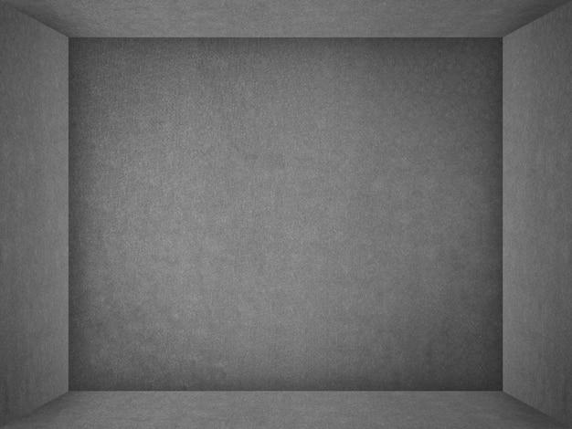 Carta grigia del tessuto per la stanza vuota del cubo di struttura per fondo