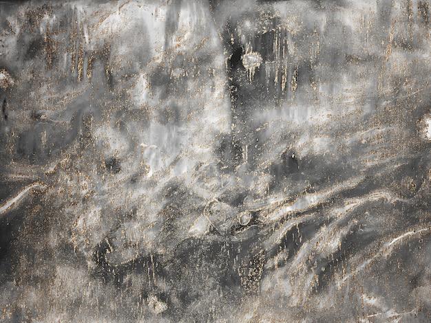 Sfondo di pittura astratta in tela di marmo grigio con texture oro, bronzo