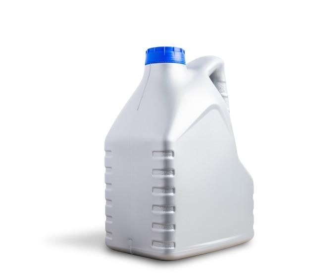 Bottiglia di plastica grigia da 4 litri per olio lubrificante per macchina con tanica