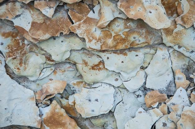 Struttura grigia simile a una roccia