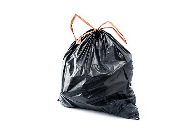 Sacchetto della spazzatura grigio isolato
