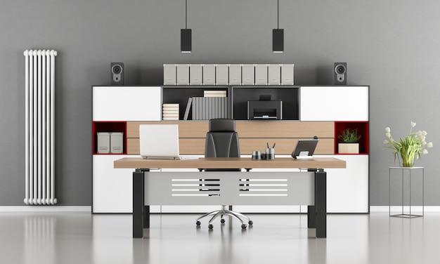 Ufficio moderno grigio e bianco