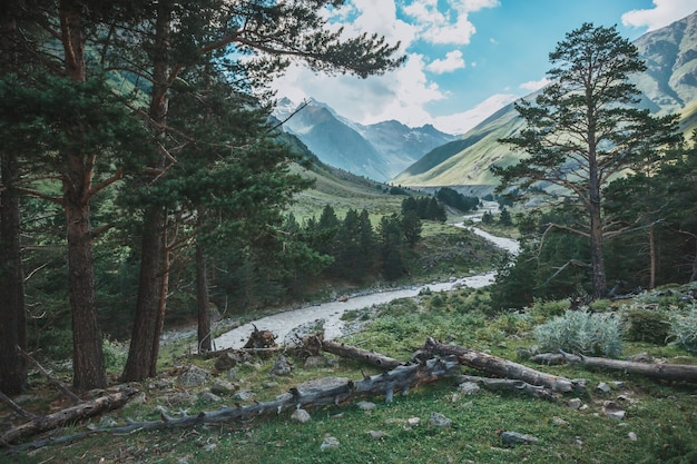 Montagne del caucaso maggiore dal monte elbrus