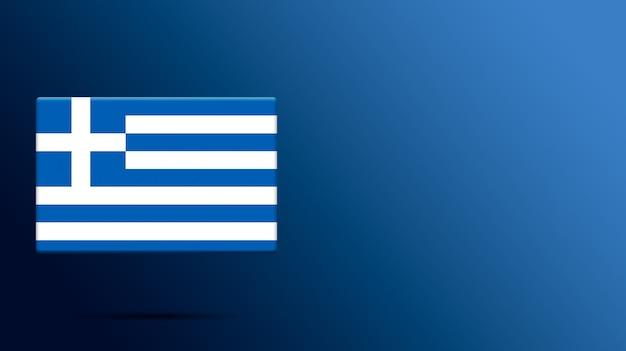 Bandiera della grecia sulla piattaforma realistica