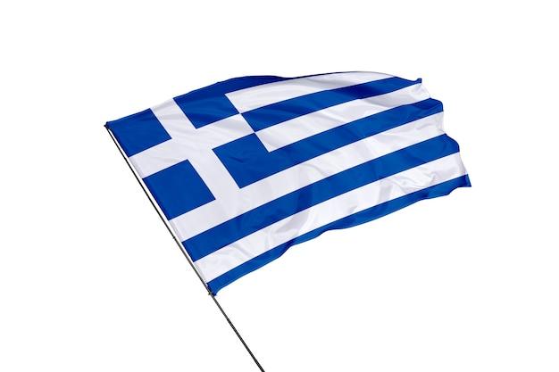 Bandiera della grecia su sfondo bianco