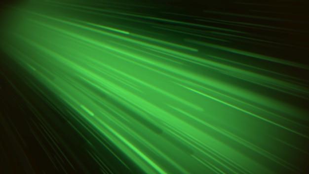 Linee di movimento astratte verdi con rumore in stile anni '80, sfondo retrò. stile di illustrazione 3d di gioco dinamico elegante e lussuoso