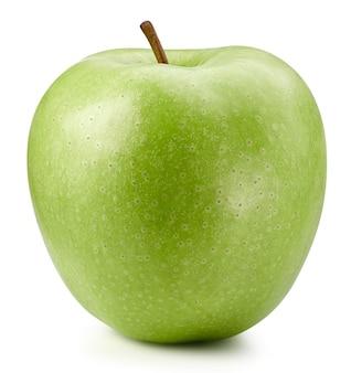 Fine isolata mela verde su