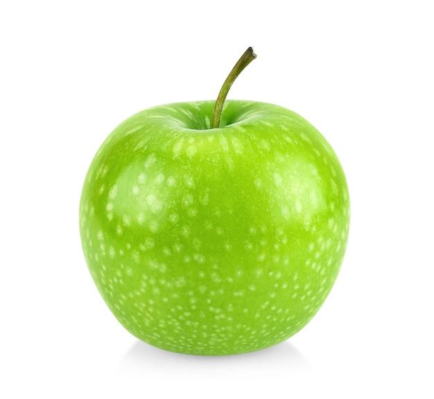 Mela verde isolata. massima profondità di campo