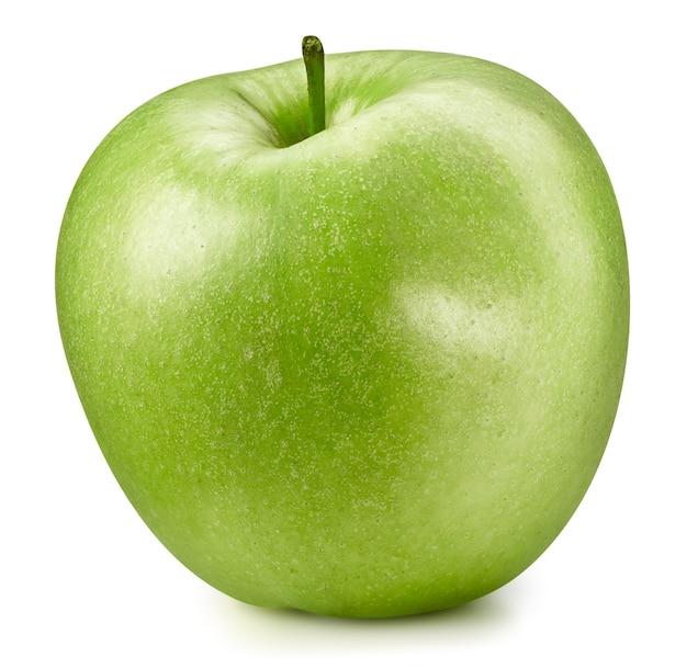 Mele verdi isolate su bianco