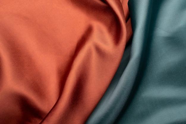 Priorità bassa di struttura del tessuto verde e marrone Foto Premium
