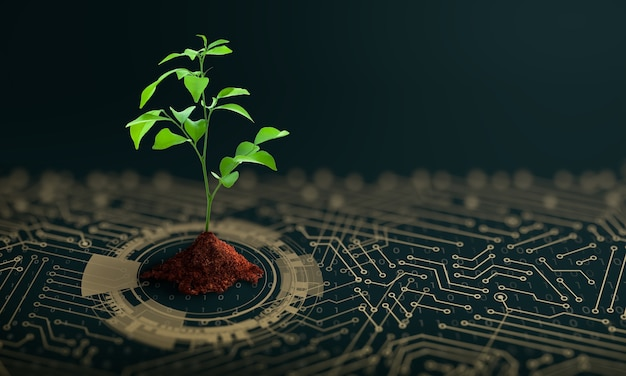 Green computing green technology green it csr ed etica it concept