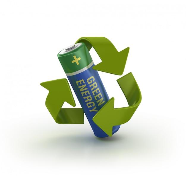 Batteria a energia verde