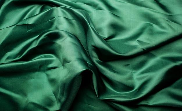 Tessuto verde texture di sfondo, astratto, trama closeup di stoffa