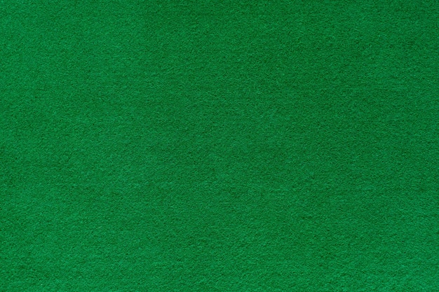 Trama di sfondo in feltro verde per tavolo da poker e casinò