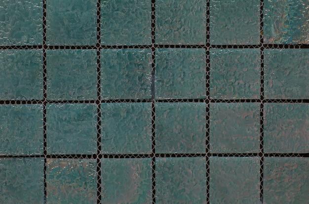 Piastrella con motivo a mosaico astratto geometrico verde per la cucina