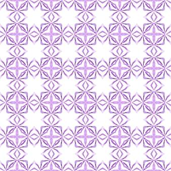 Bordo dell'acquerello chevron geometrico verde. design estivo boho chic viola attraente. stampa simpatica pronta per tessuti, tessuto per costumi da bagno, carta da parati, involucro. reticolo dell'acquerello di chevron.