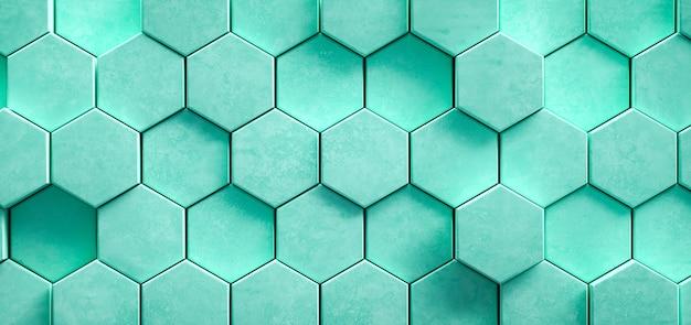 Fondo astratto esagonale geometrico verde