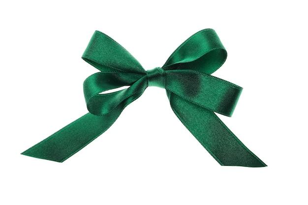 Fiocco regalo verde isolato su bianco