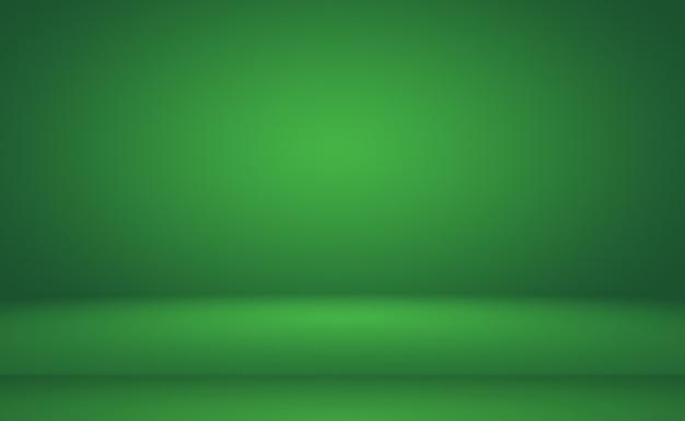 Sfumatura verde sfondo astratto stanza vuota con spazio per il testo e l'immagine.