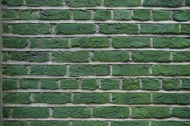 Struttura del fondo del muro di mattoni verde del grunge