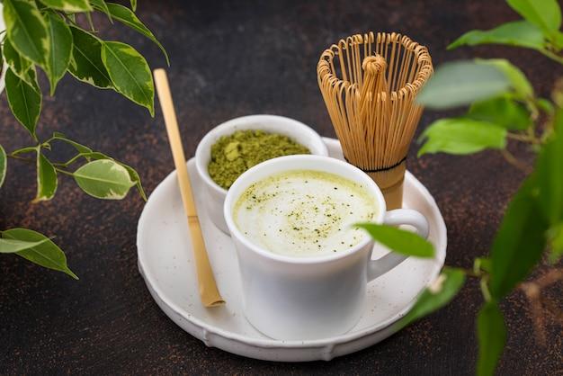 Bevanda sana verde del latte matcha