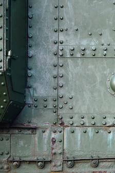 Fondo strutturato verde del metallo industriale