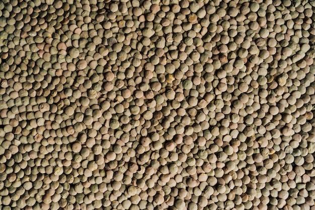 Primo piano delle lenticchie verdi