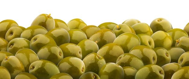Seamless pattern di olive verdi. isolato su sfondo bianco