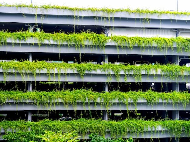 Edificio parcheggio verde