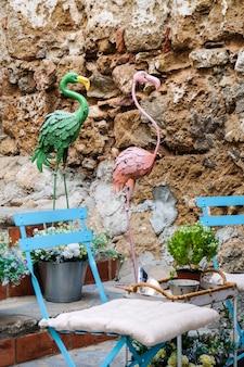 Fenicotteri verdi e rosa a marbella